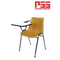 เก้าอี้โพลี ขาเหลี่ยม ชุบโครเมี่ยม มีเลกเชอร์