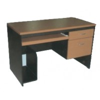 โต๊ะคอมพิวเตอร์ 2 ลิ้นชักขวา+ที่วางแป้นพิมพ์+ที่วาง CPU