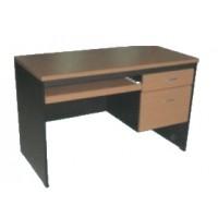 โต๊ะคอมพิวเตอร์ 2 ลิ้นชักขวา+ที่วางแป้นพิมพ์